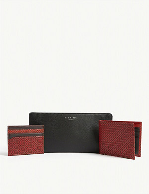TED BAKER Skates leather wallet and card holder set