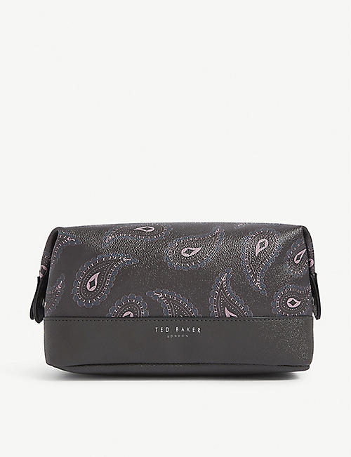 TED BAKER Paisley print leather washbag