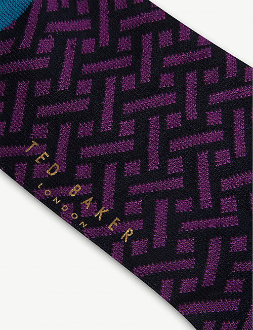 TED BAKER Ritepak cotton-blend socks set of three