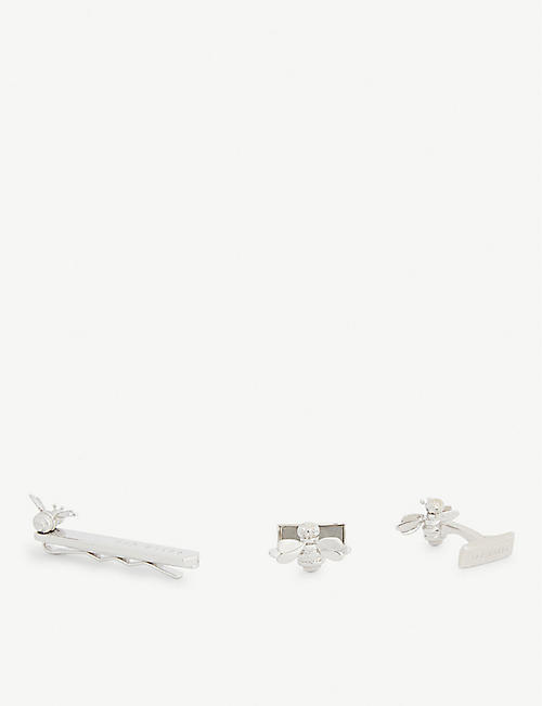 TED BAKER Pollen bee cufflinks and tie bar set