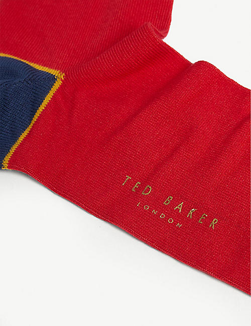 TED BAKER Apples cotton-blend socks set of three