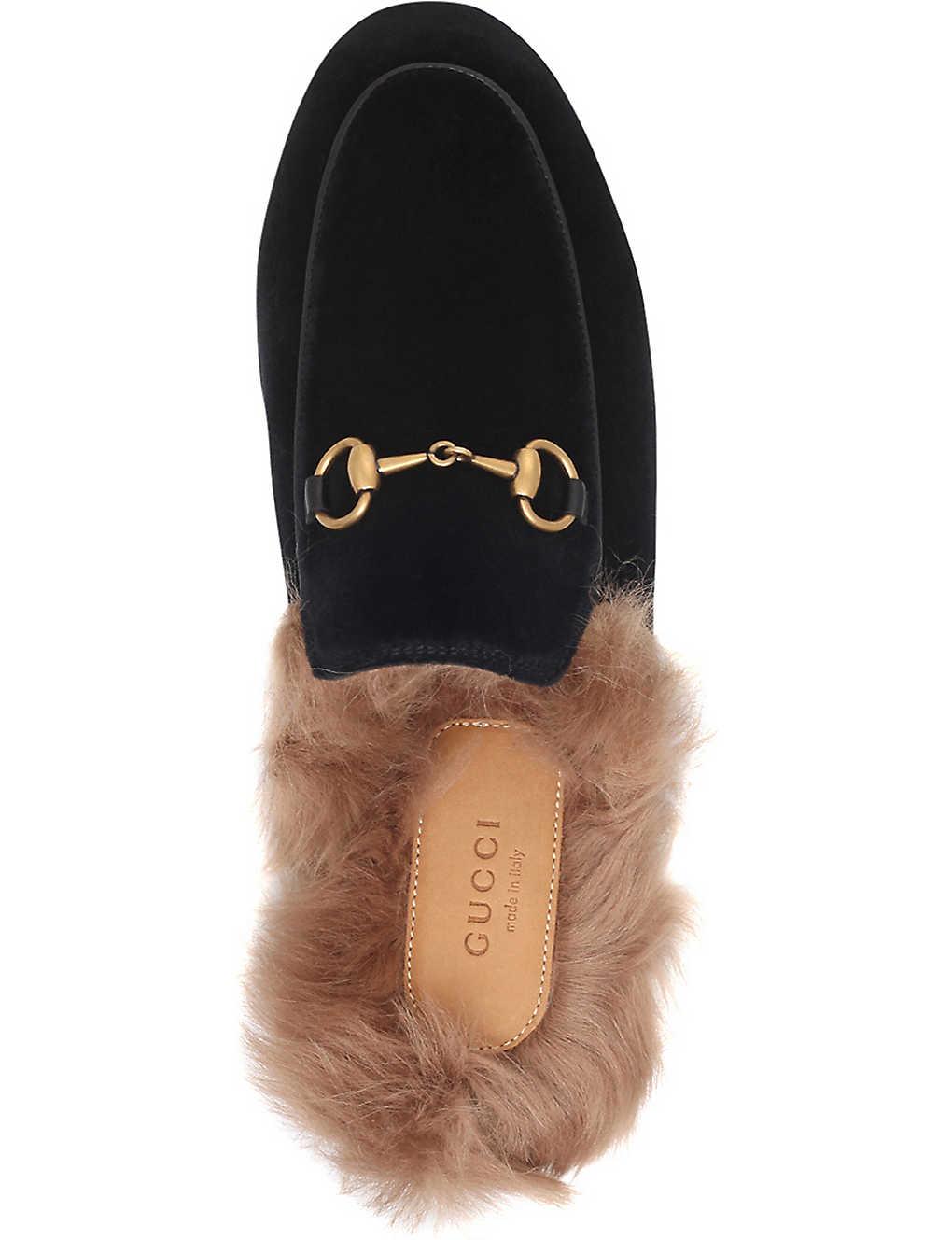 09059d54f Princetown velvet slippers - Black  Princetown velvet slippers - Black ...