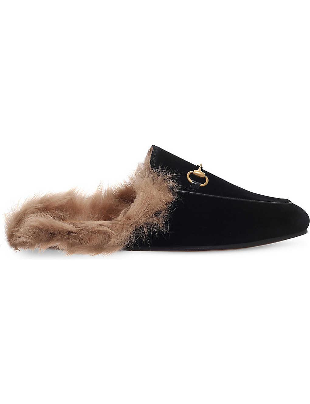 2ca85e7f70c Princetown velvet slippers - Black ...
