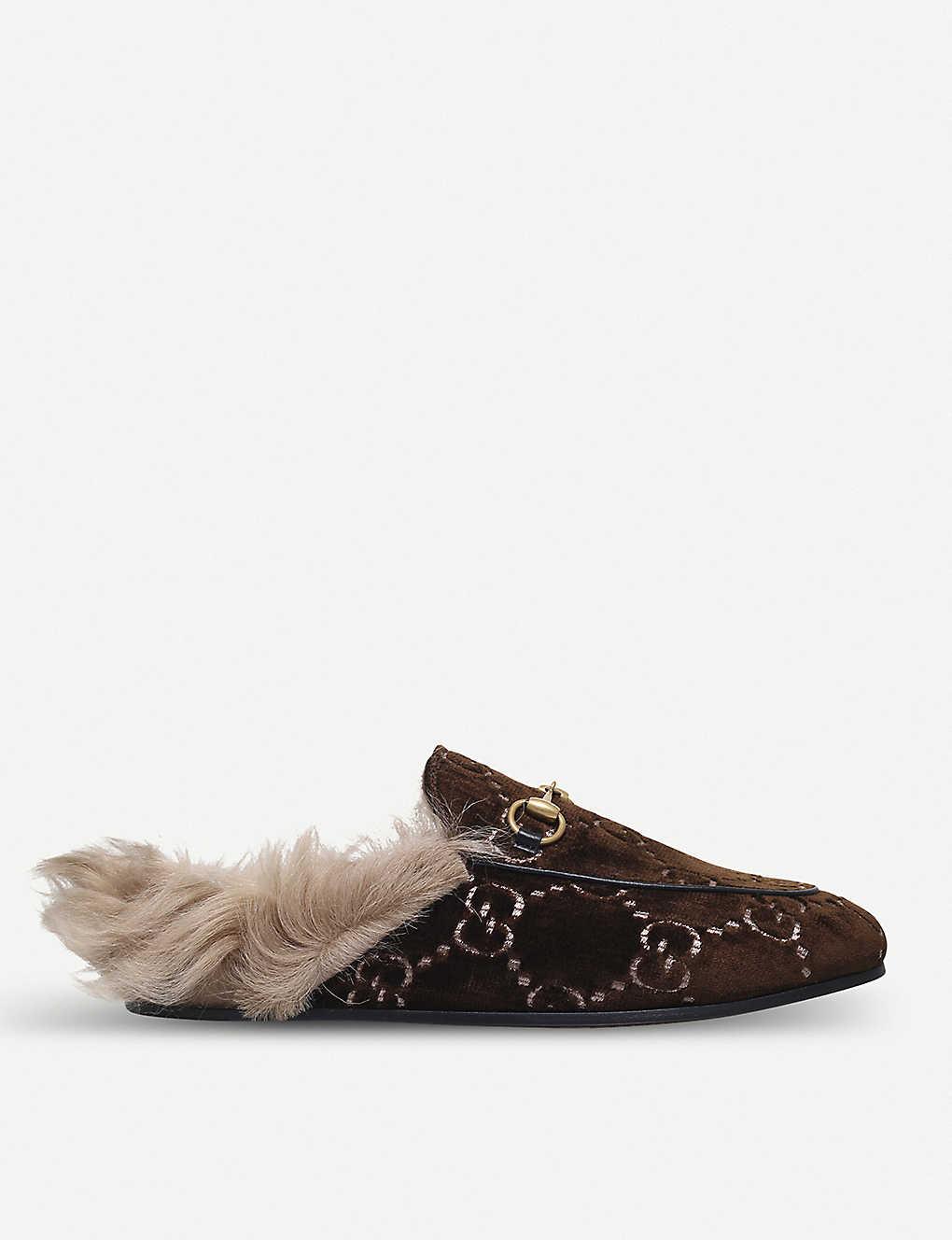 fbde3262d83 Princetown GG velvet slippers - Dkbrn com ...