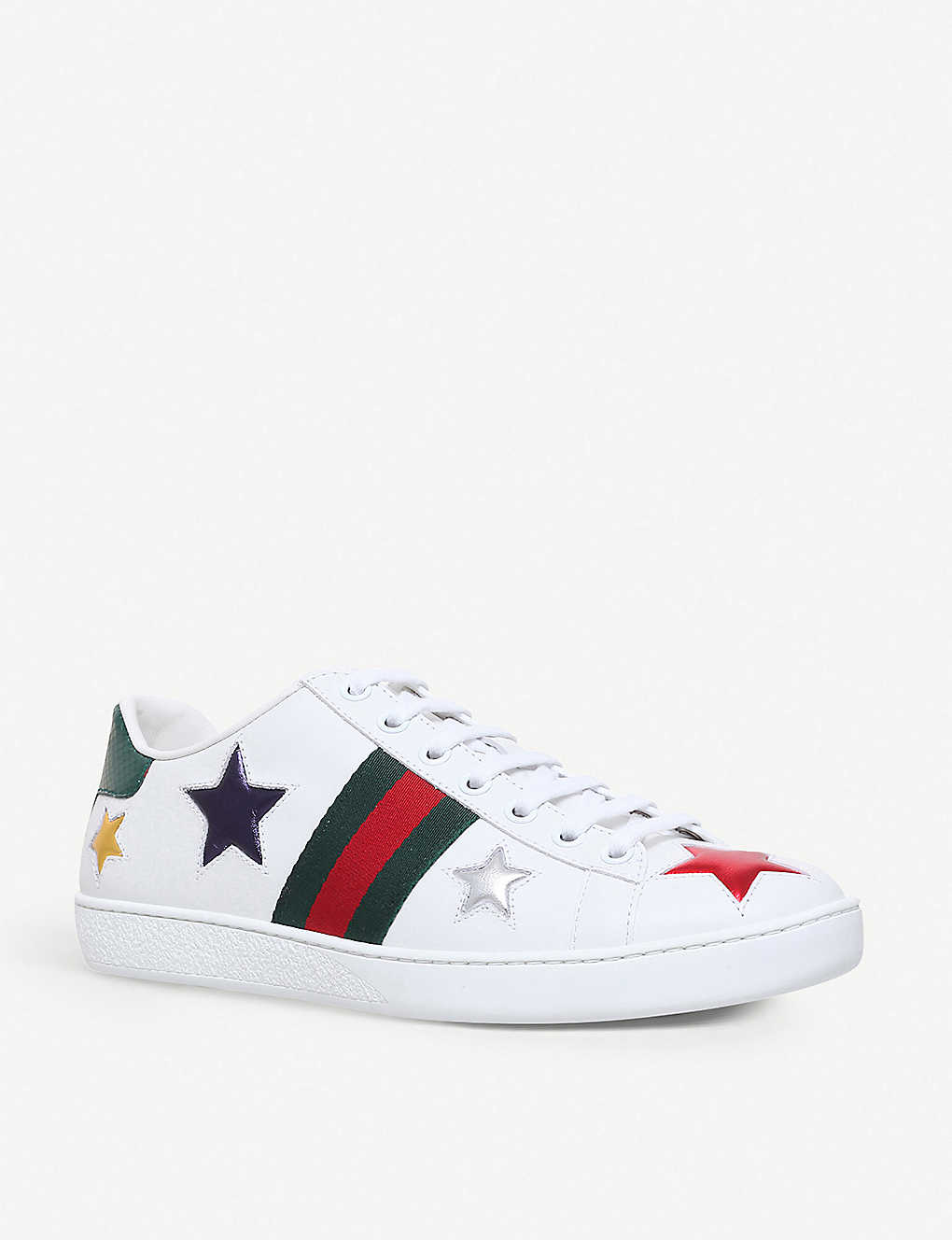 63e3f4cb782 ... New Ace star-detail leather trainers - Whiteoth ...
