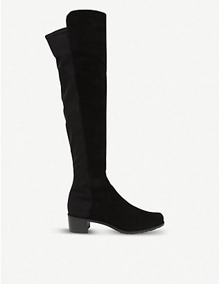 STUART WEITZMAN: Reserve suede over-the-knee boots