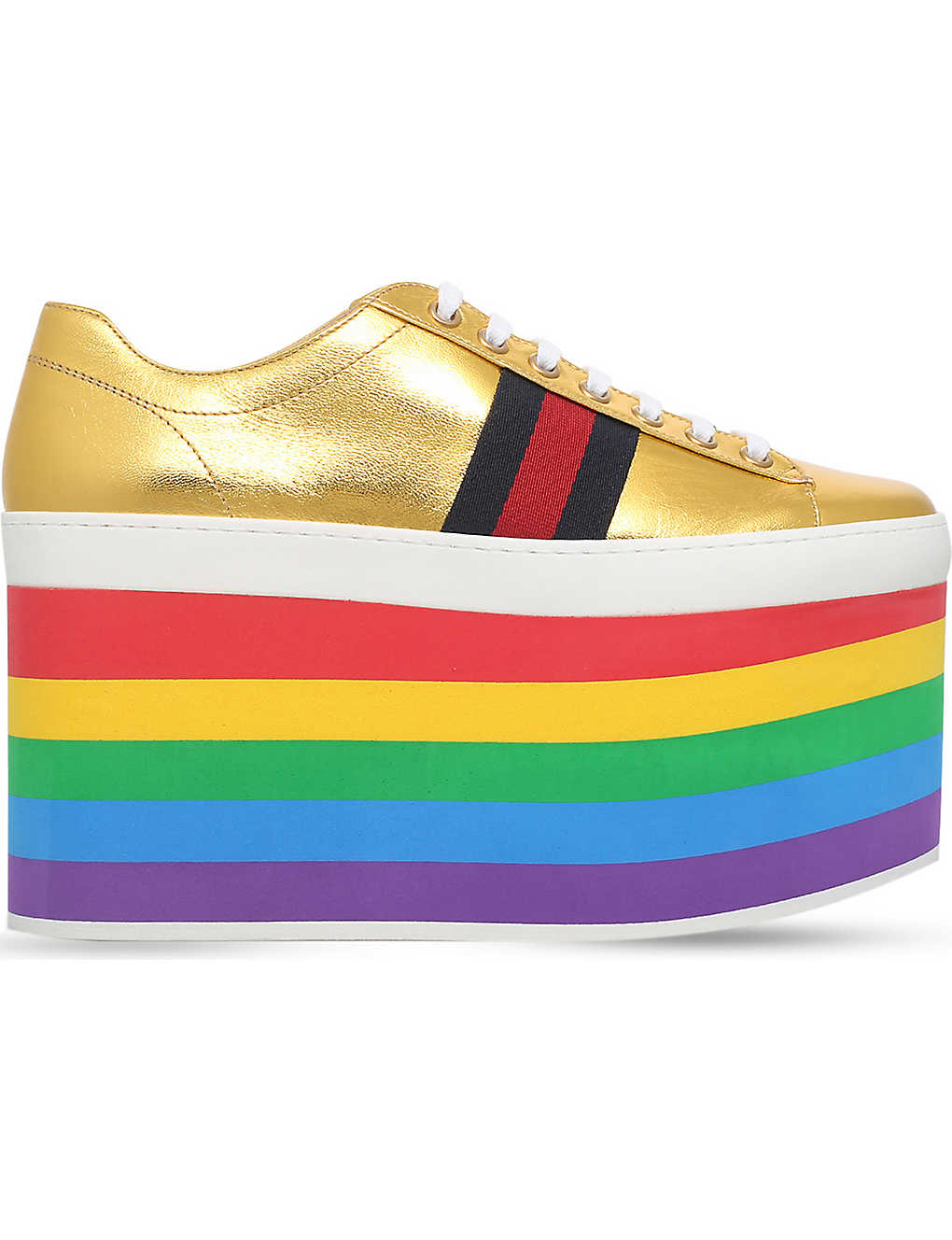 208b84cc46c ... Peggy rainbow leather platform trainers zoom ...