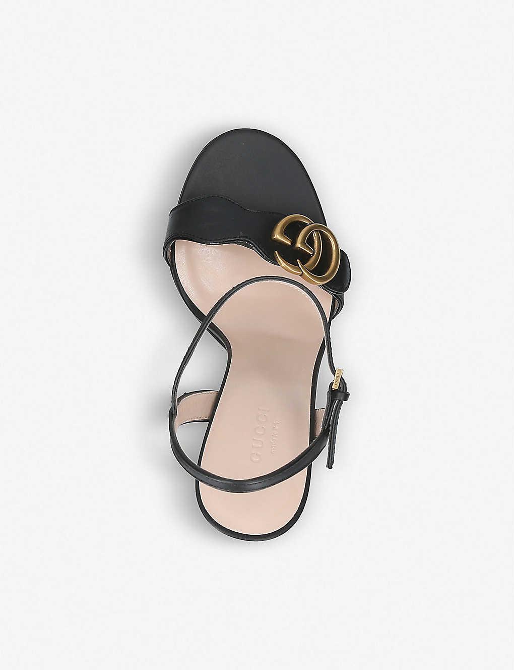 fdae1c71bbb3 ... Marmont 105 leather sandals - Black