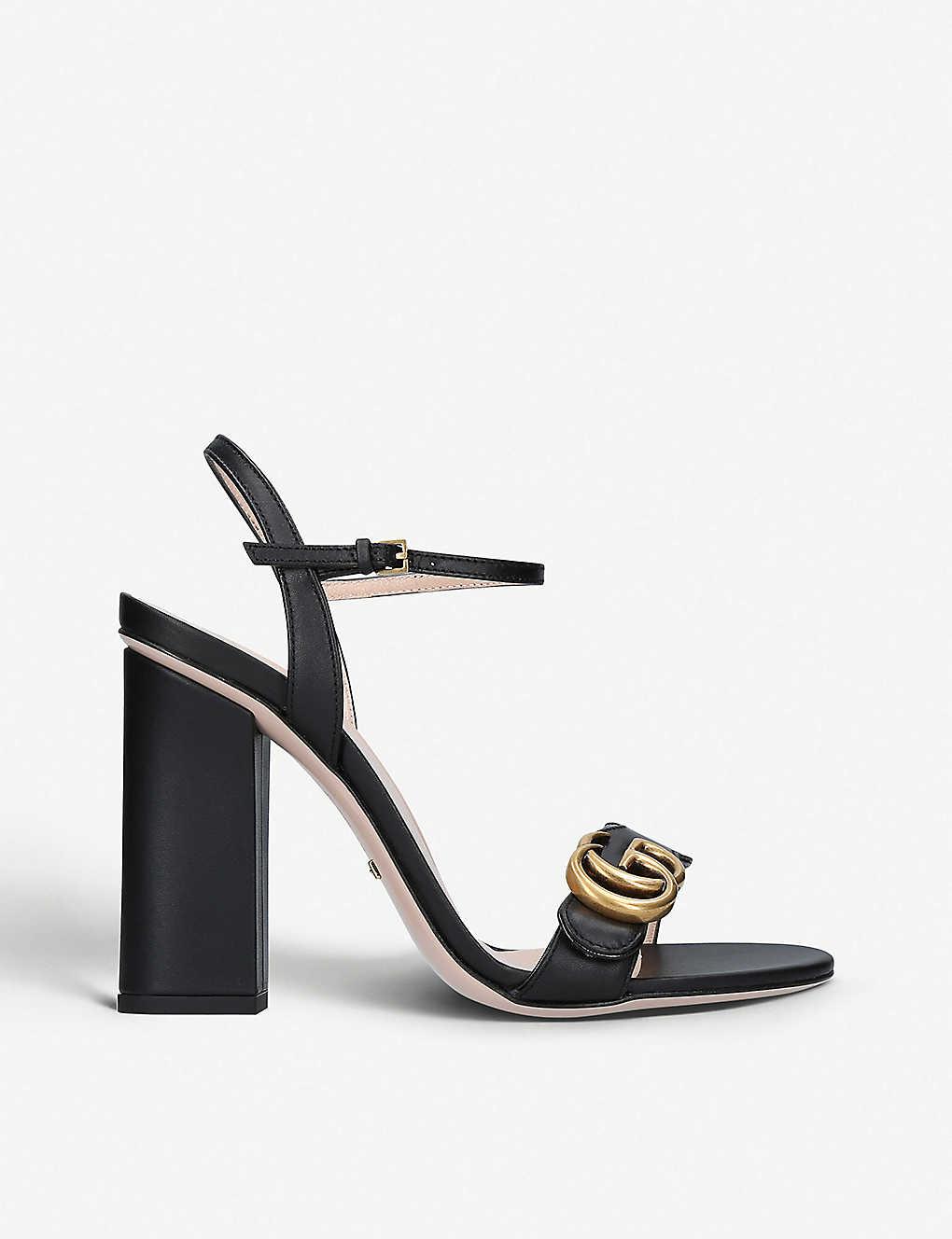 5312af3256b4 GUCCI - Marmont 105 leather sandals