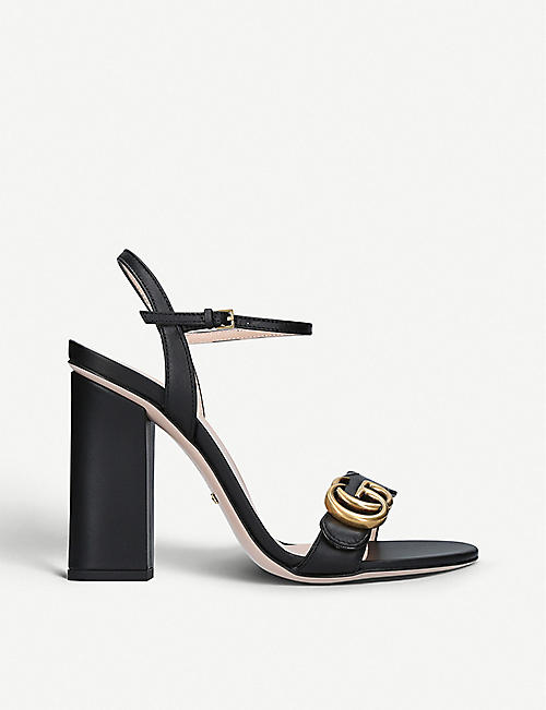 GUCCI: Marmont 105 leather sandals