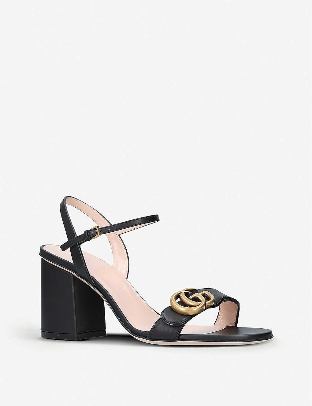 7c225d67a40b ... Marmont 75 leather sandals - Black ...