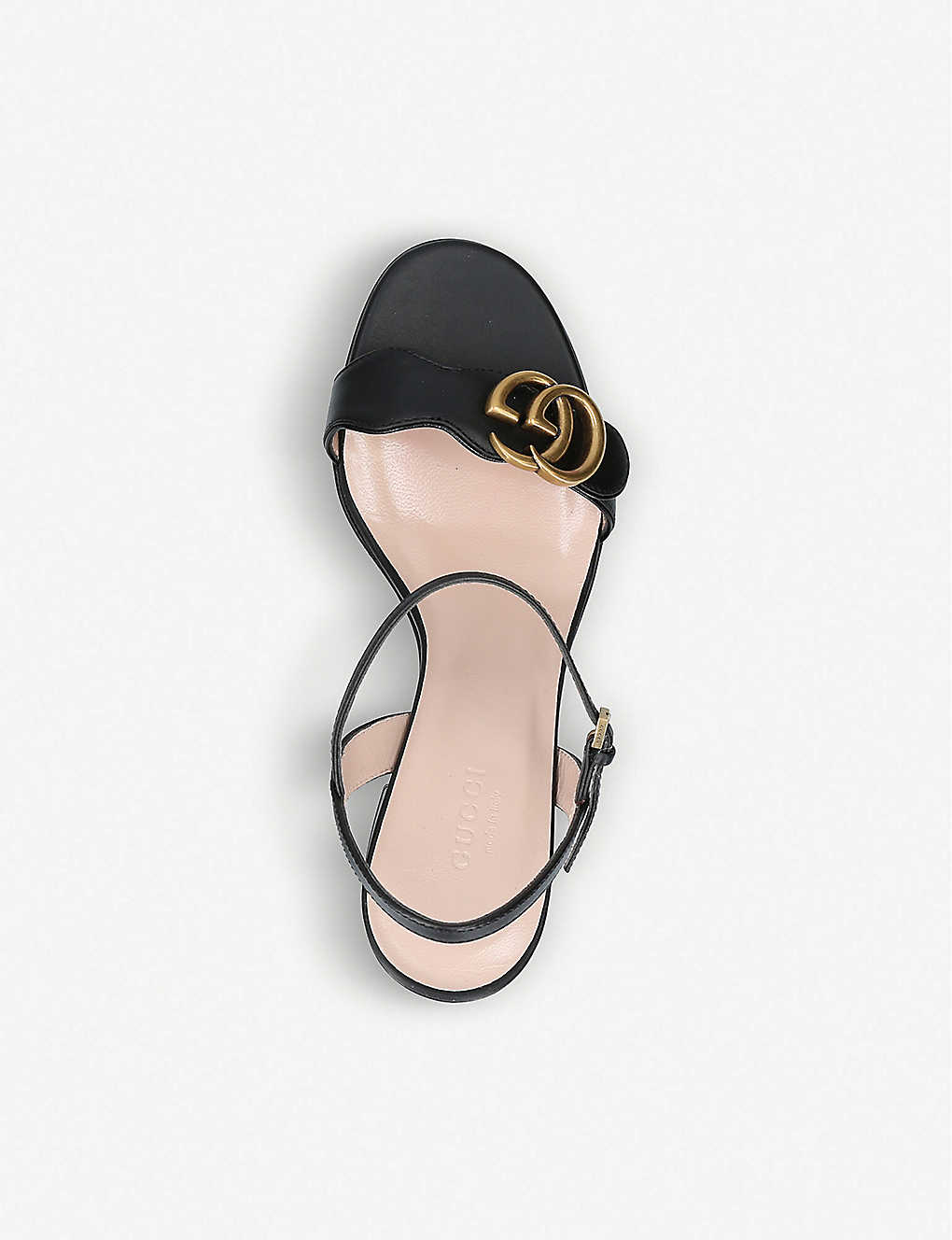 1f3db1dffcda ... Marmont 75 leather sandals - Black