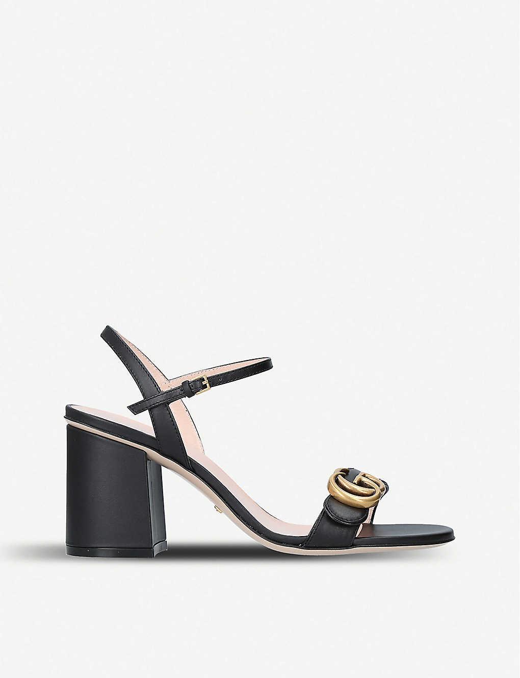 b38106159ec Marmont 75 leather sandals - Black ...