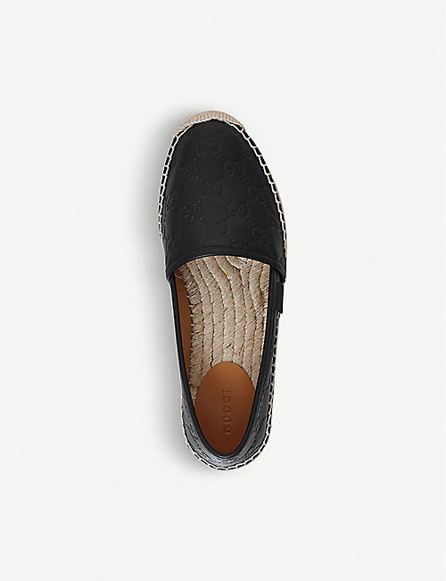GUCCI Signature leather espadrilles