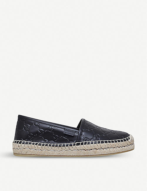 00b69b1ca45 GUCCI - Signature leather espadrilles | Selfridges.com