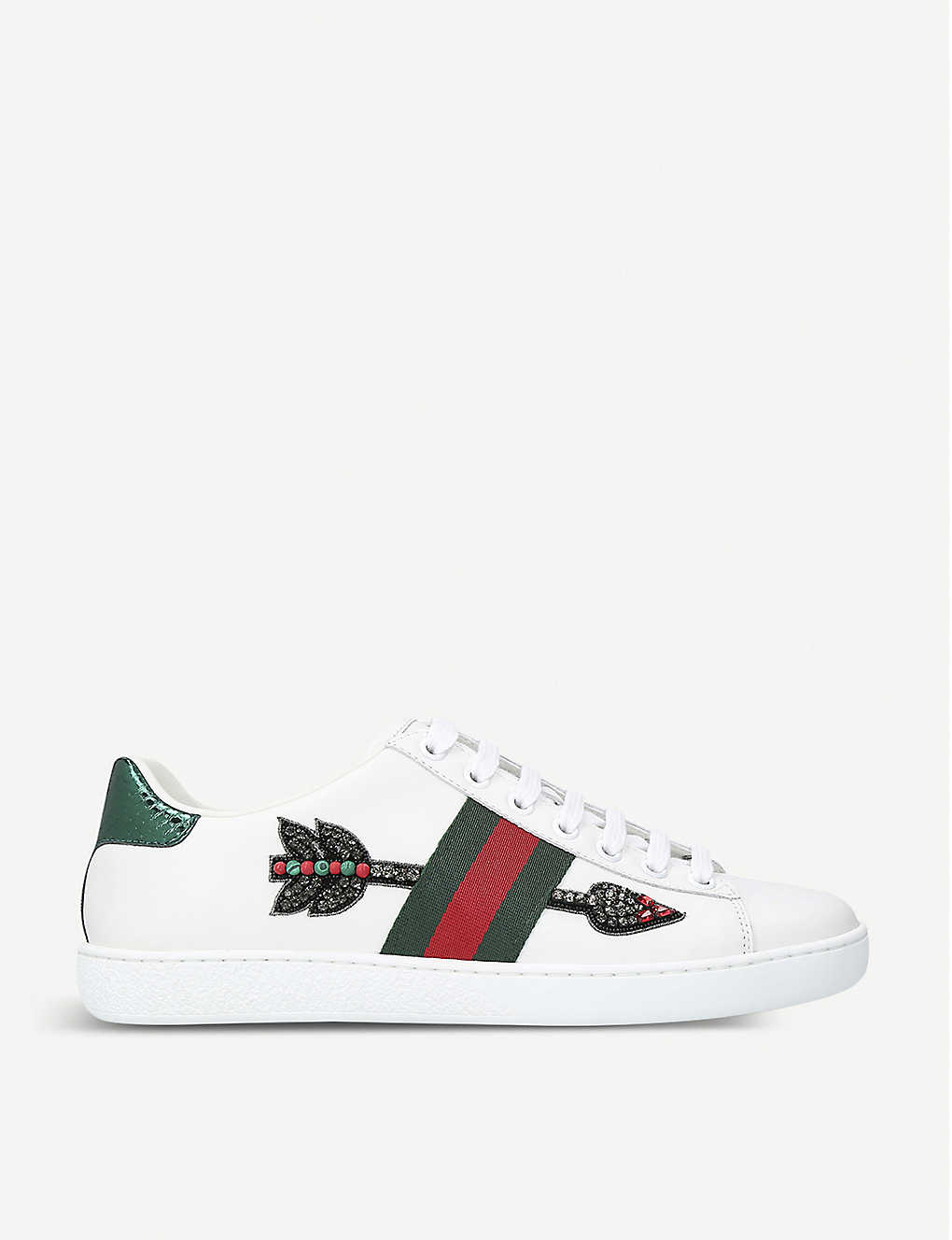 dfae9fb7a68 New Ace arrow-embroidered leather trainers - Whiteoth ...