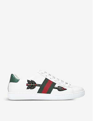 GUCCI New Ace leather low-top trainers