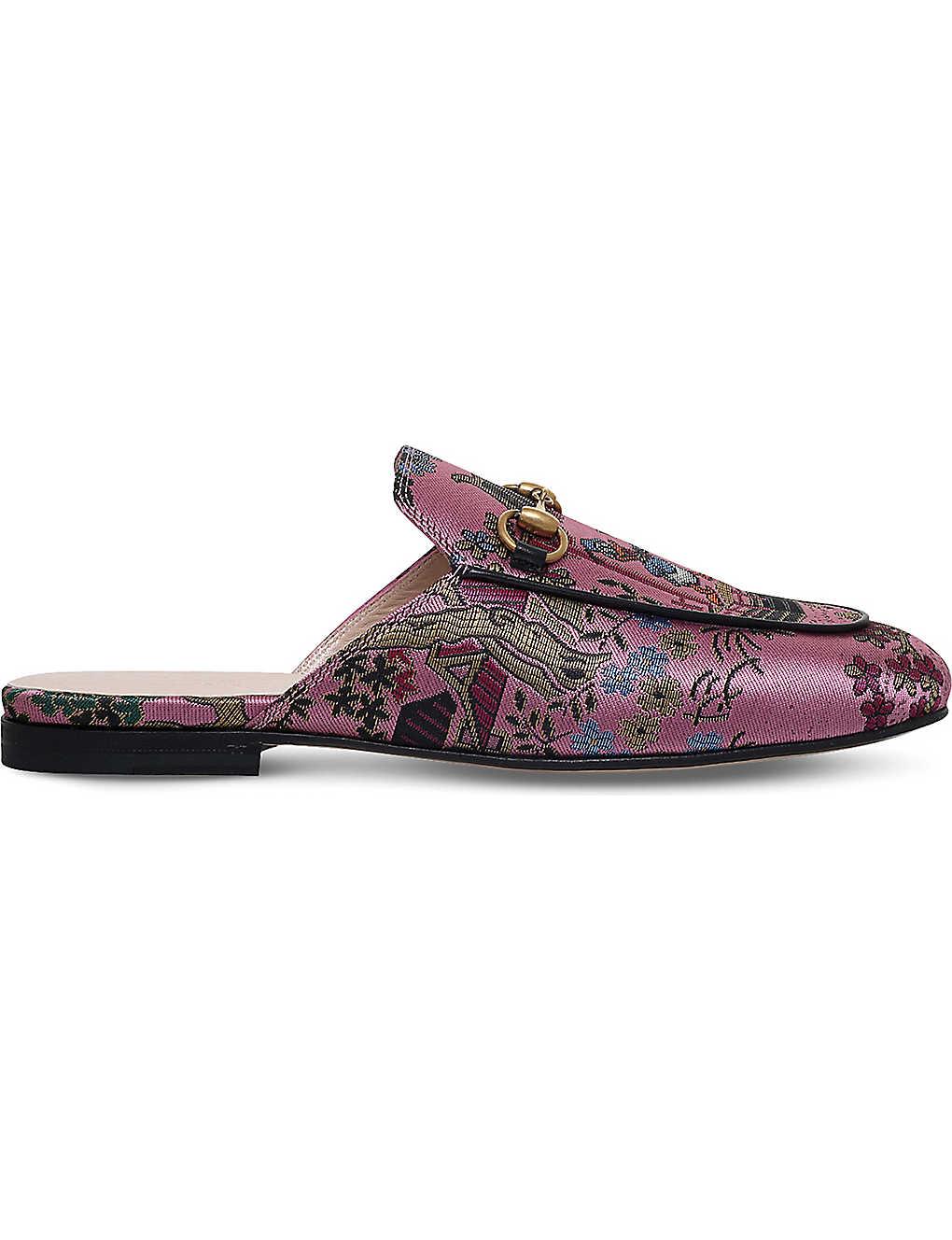 69297c9d48e6 GUCCI - Princetown Donald Duck jacquard slippers | Selfridges.com