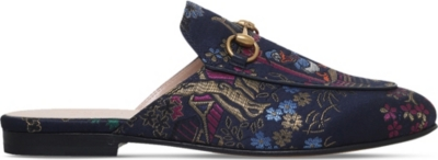 4107a12e402 GUCCI - Princetown Donald Duck jacquard slippers