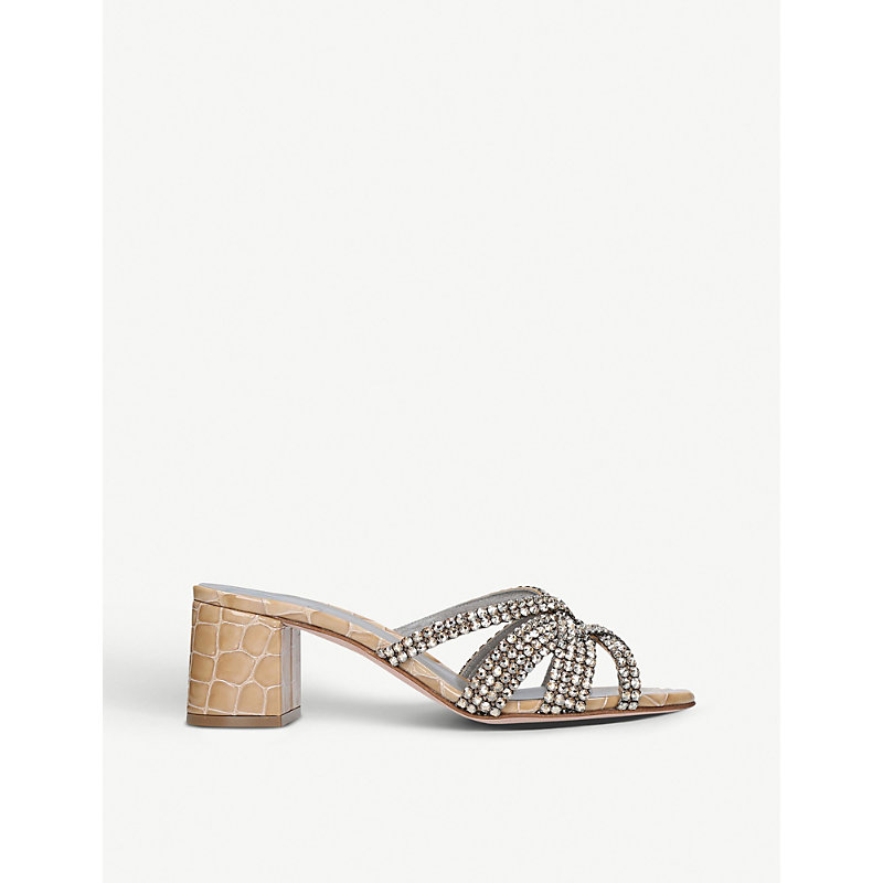 Gina DEXIE MOCK-CROC LEATHER MULES