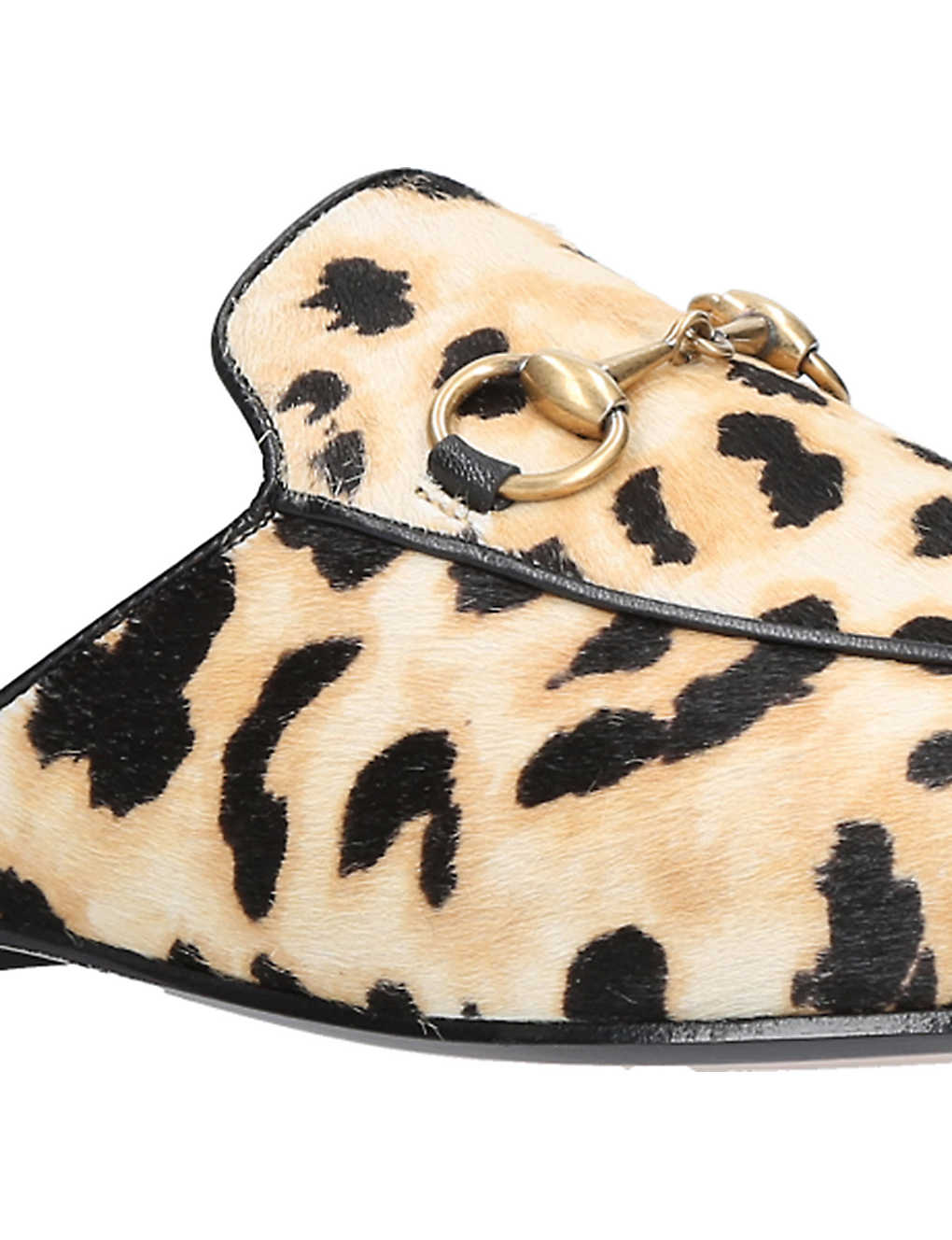 a1d83ab20694 GUCCI - Princetown leopard calf-hair slippers | Selfridges.com