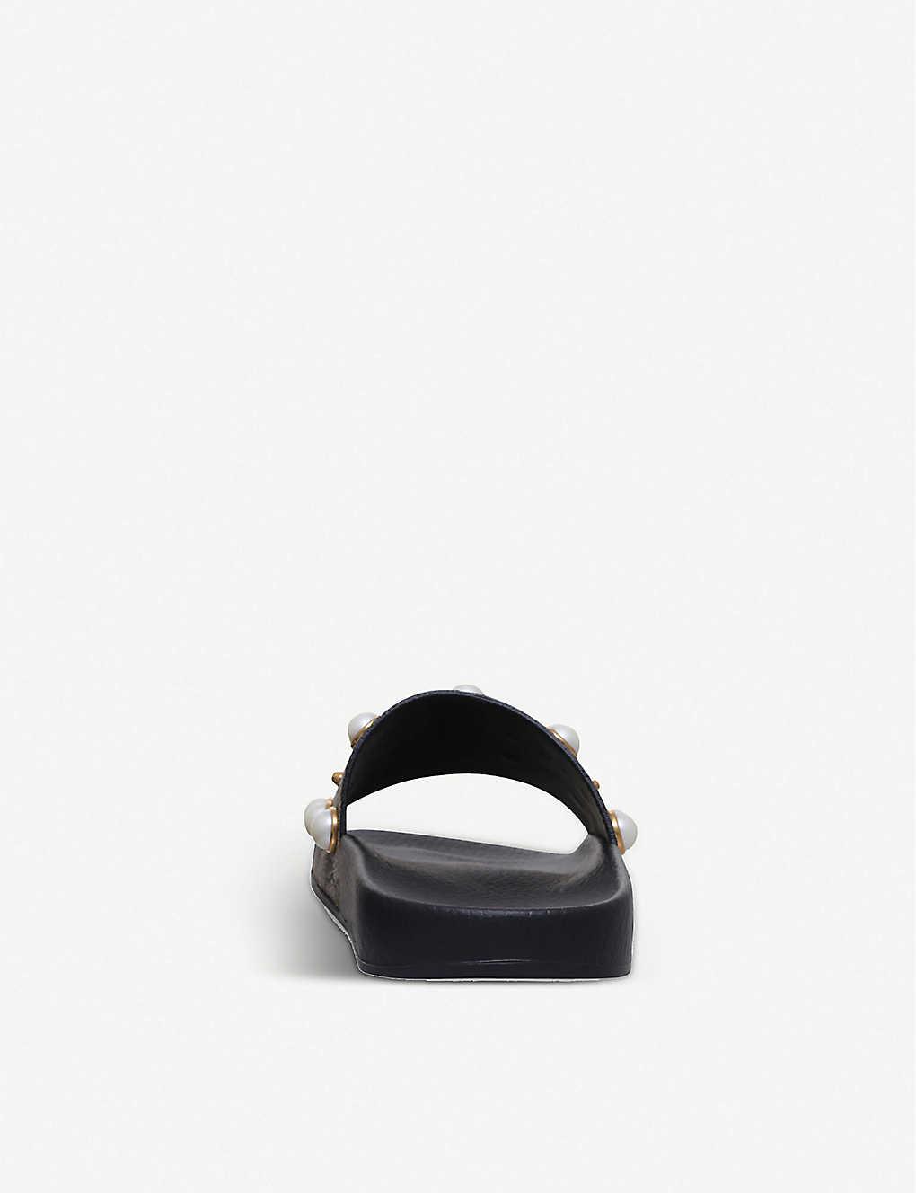 eaaab53a385 ... Pursuit pearl-embellished rubber slider sandals - Beige comb