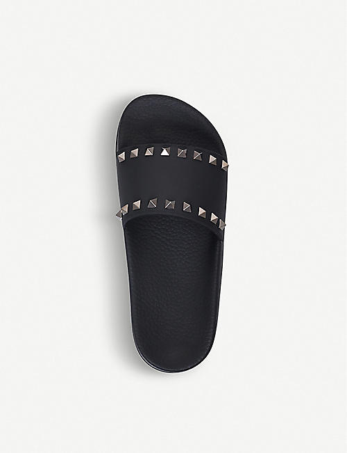 VALENTINO Rockstud rubber slider sandals