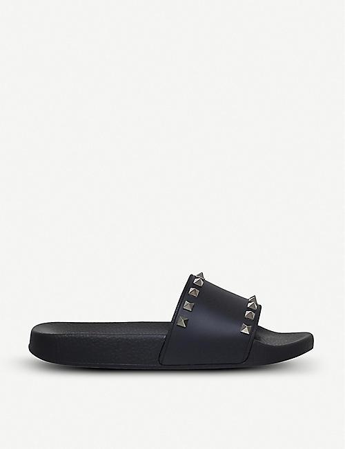 63797a41a210 VALENTINO Rockstud rubber slider sandals