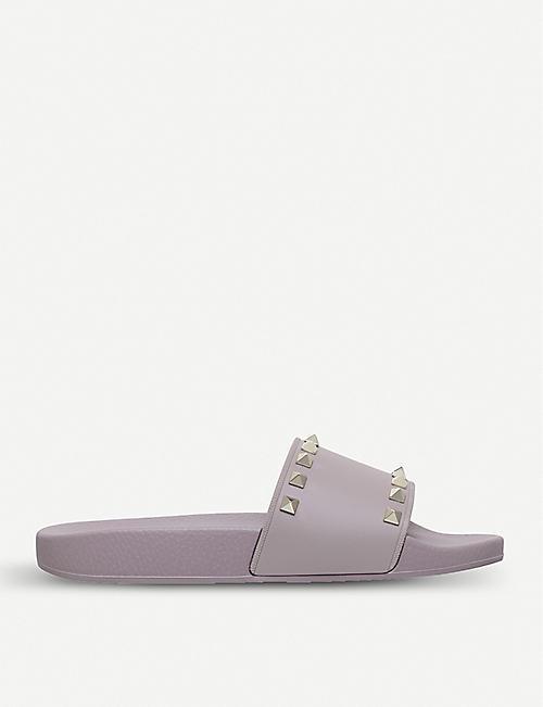 8d17ac061 VALENTINO Rockstud rubber slider sandals