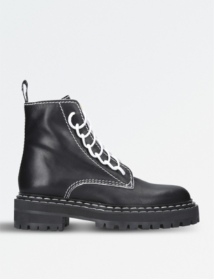 PROENZA SCHOULER Leather combat boots
