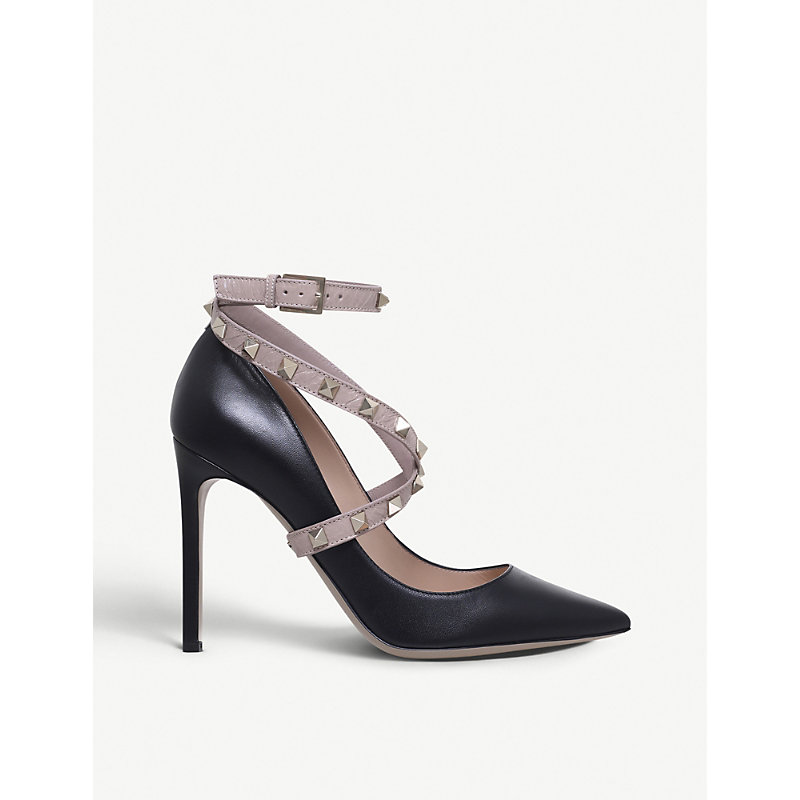 Studwrap 105 Leather Courts in Blk/Beige