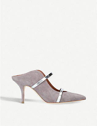 MALONE SOULIERS: Maureen strappy suede mules