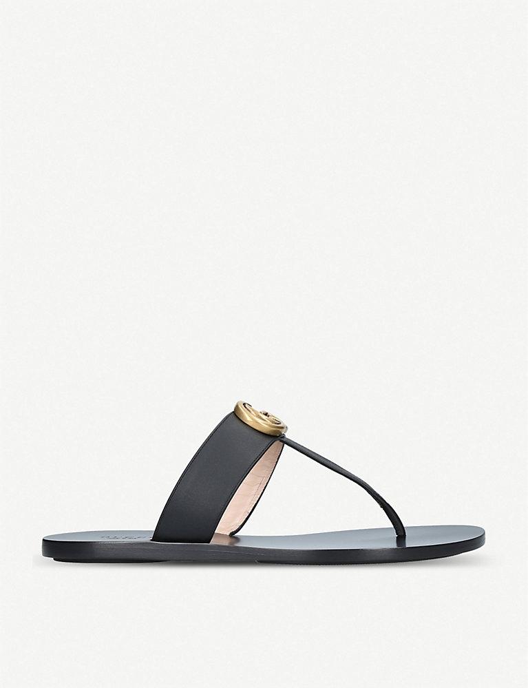 33e0a83275d5f GUCCI - Marmont leather sandals | Selfridges.com