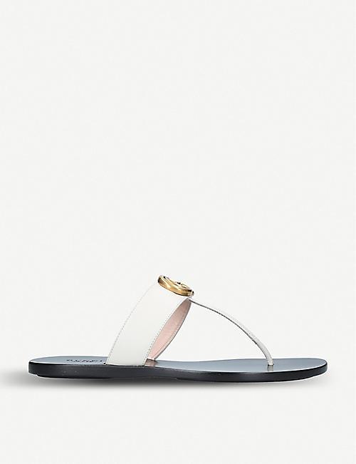 4e63ac4629714d GUCCI - Flat sandals - Sandals - Womens - Shoes - Selfridges