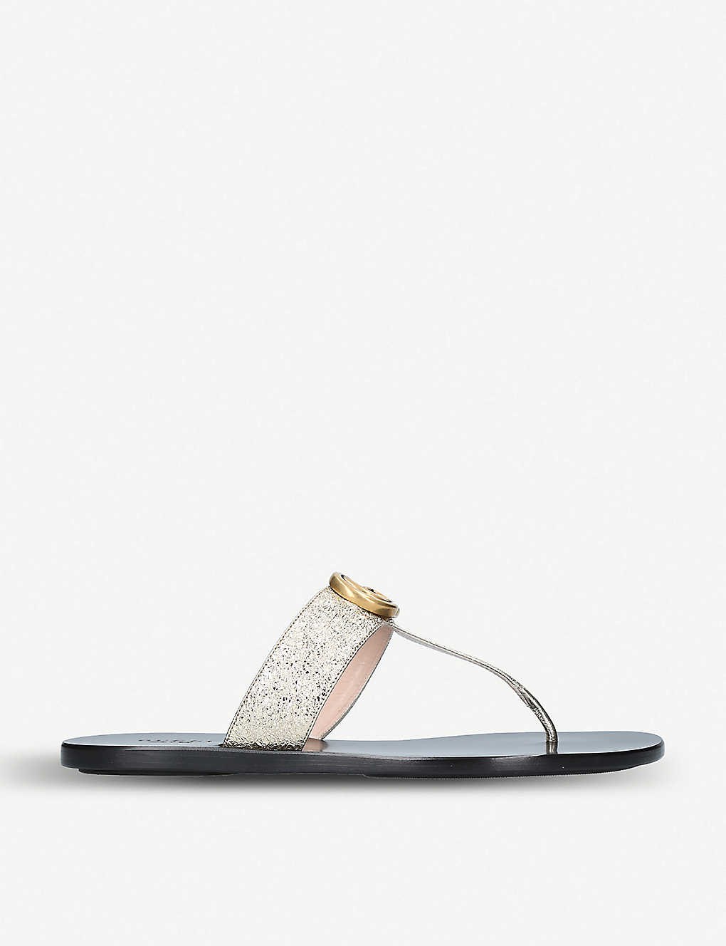 GUCCI: Marmont leather sandals