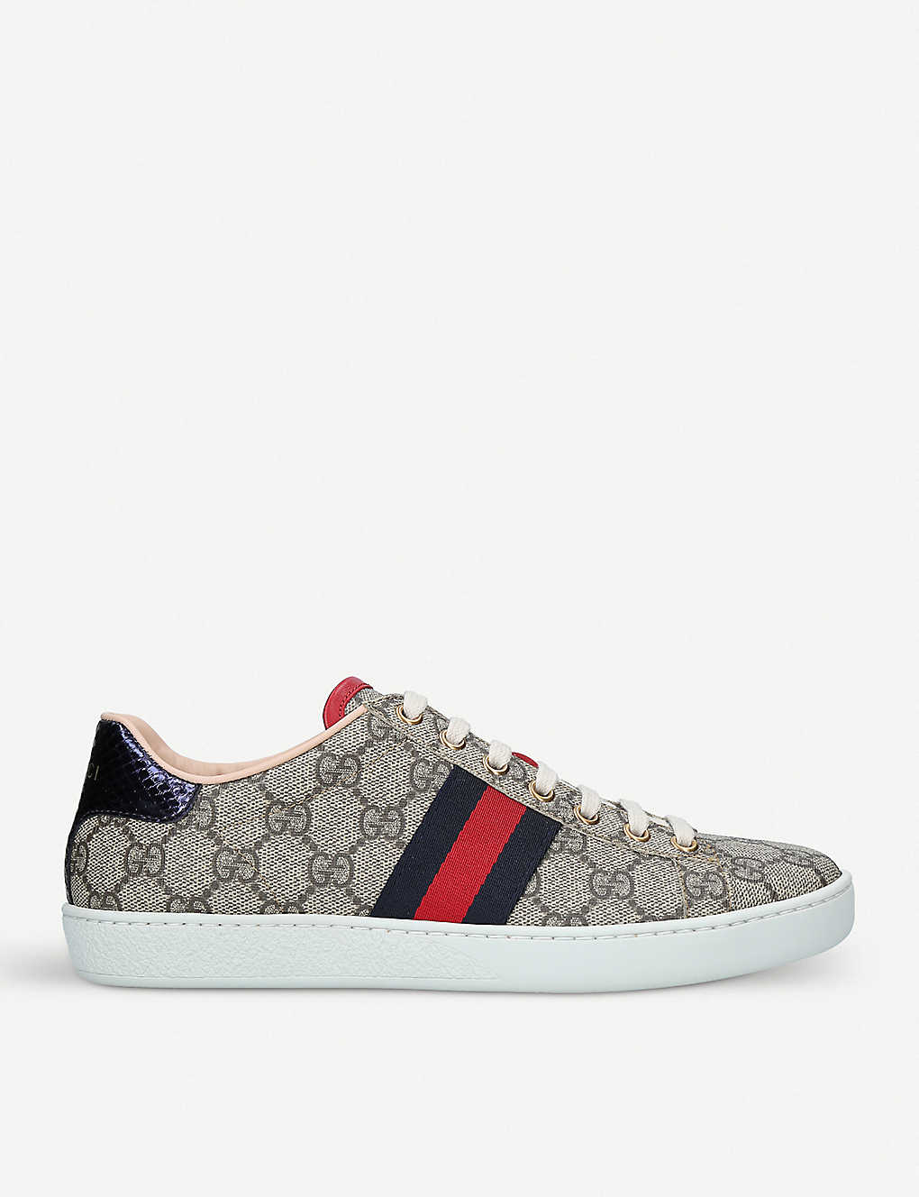 5e81c01c1 GUCCI - New Ace GG Supreme canvas trainers | Selfridges.com