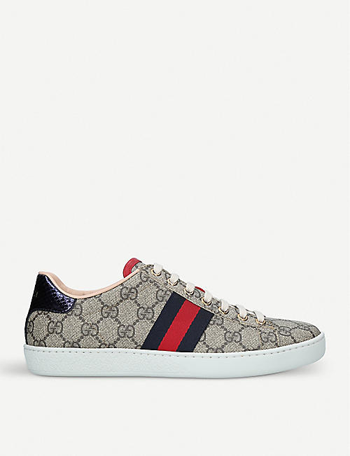 GUCCI New Ace GG Supreme canvas trainers