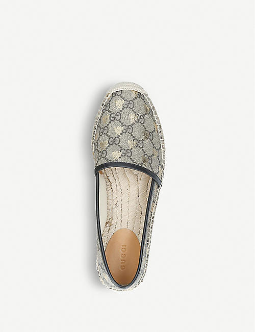 GUCCI Pilar GG Bee canvas espadrilles