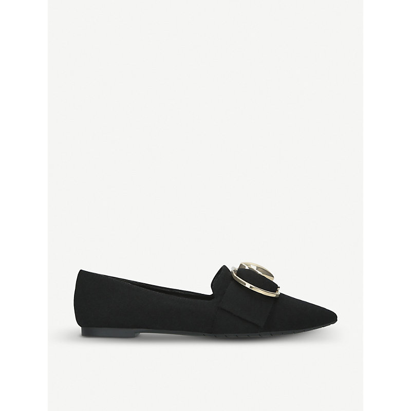 Stella Luna DOUBLE-RING SUEDE LOAFERS