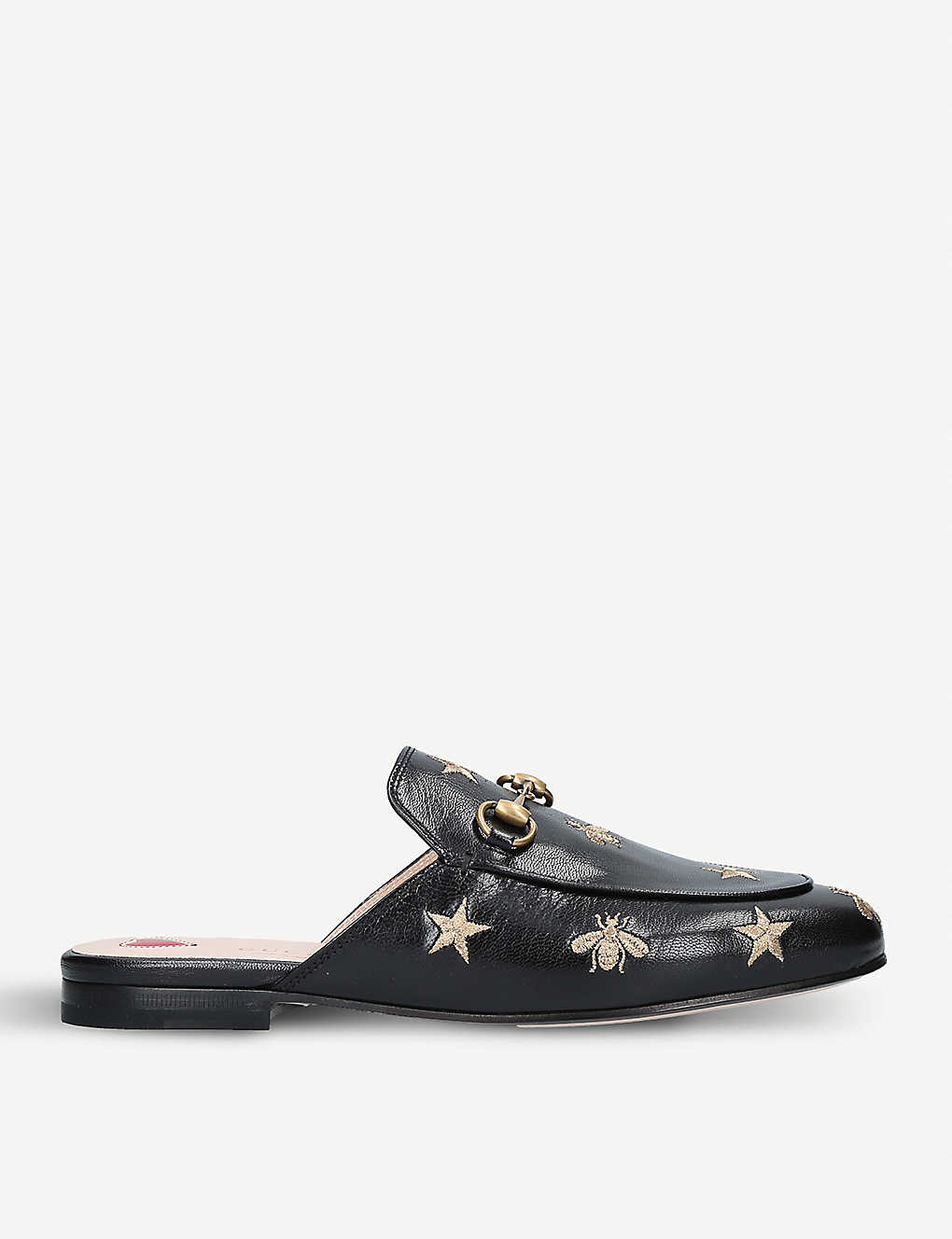 10fea940f GUCCI - Princetown embroidered leather slippers | Selfridges.com