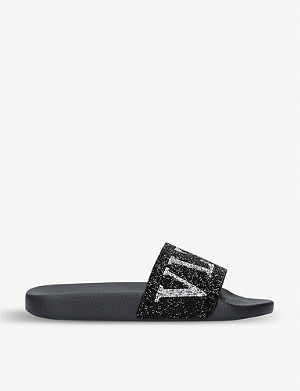 VALENTINO VLTN beaded pool sliders