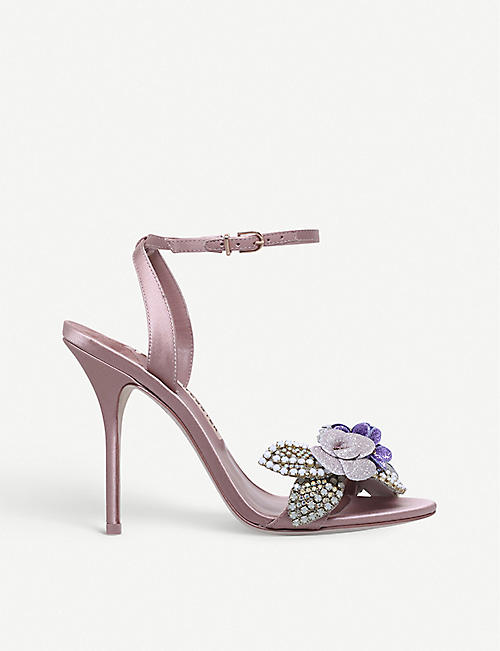 SOPHIA WEBSTER Lilico satin glitter sandals