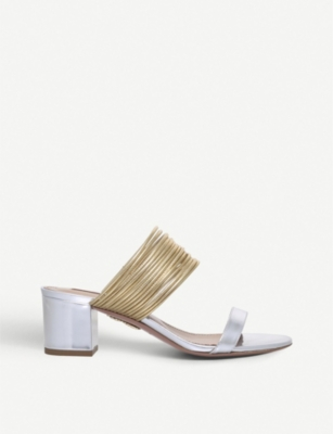AQUAZZURA Rendez vous leather sandal
