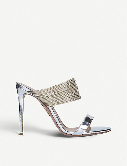 AQUAZZURA: Rendez Vous leather sandals