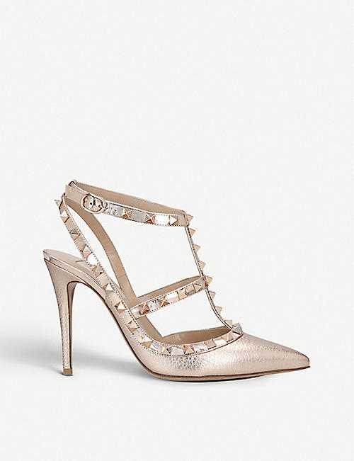 Sandals for Women On Sale, Copper Pink, Leather, 2017, 4.5 Valentino