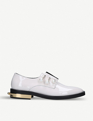 COLIAC Fernanda embellished patent-leather brogues