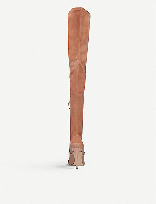 MALONE SOULIERS Madison over-the-knee mixed leather boots