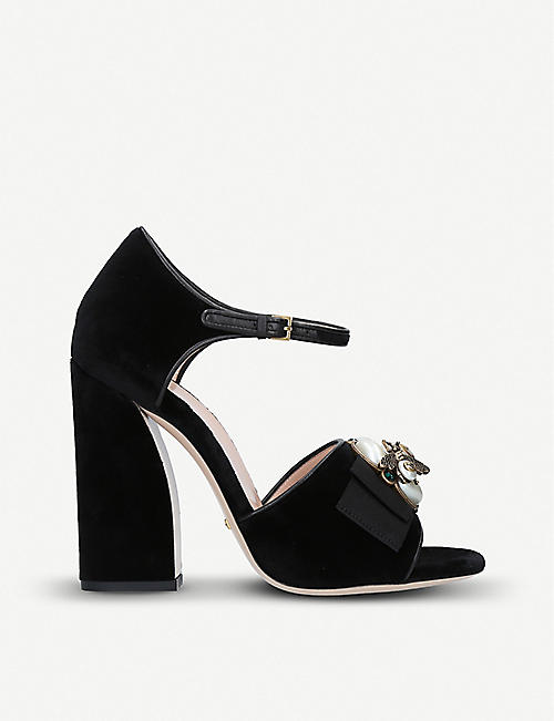 bf76c0133 GUCCI - High heel - Heeled sandals - Sandals - Womens - Shoes ...