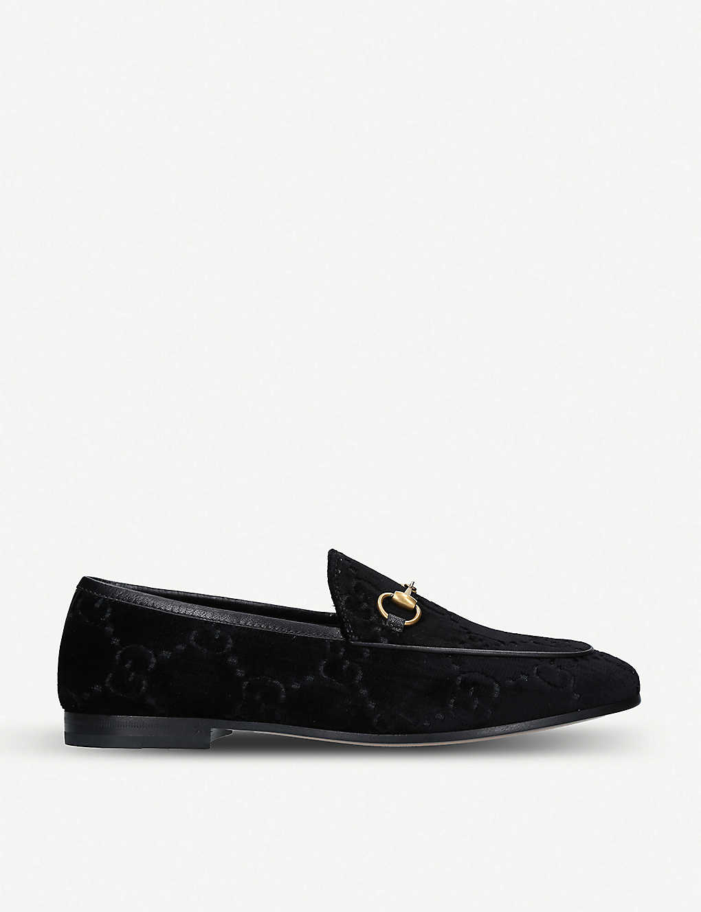 Gucci Flats New Jordaan jacquard velvet loafers