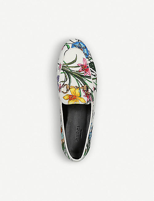GUCCI Jordaan canvas loafers